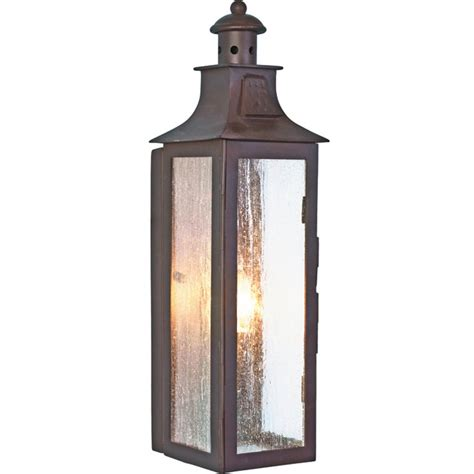 wrought iron outdoor garden wall lantern in bronze