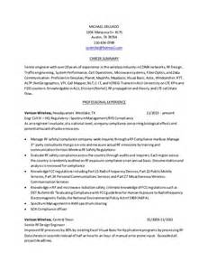 summary in resume for engineer resume rf engineer baseline 02162015