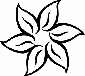 Simple Flower Drawings In Black And White - ClipArt Best