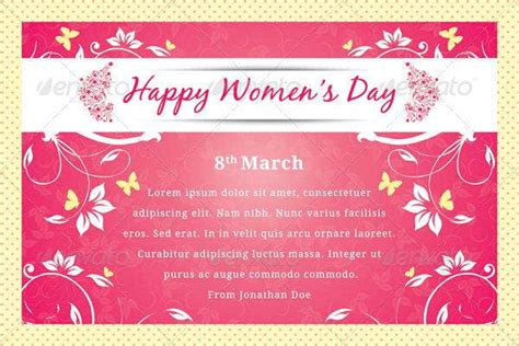 womens day greeting card templates  premium