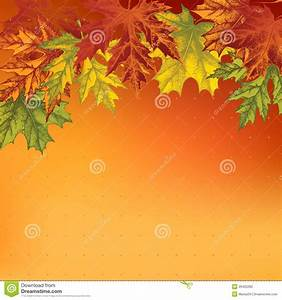 Background With Autumn Maple Leaves, Hand-drawing Stock ...
