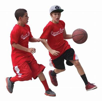 Basketball Playing Transparent Children Player Team Fighting