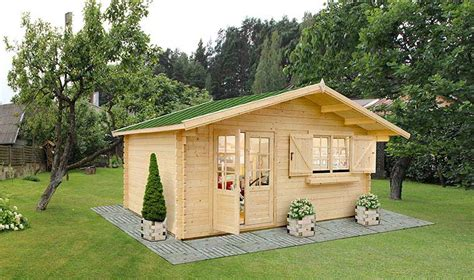 chalet de jardin en bois vitr emboiter avec plancher et couverture