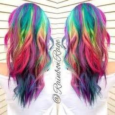 Rainbow Hair on Pinterest