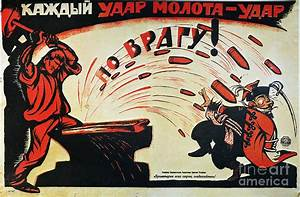 Russia: Anti-capitalist Poster, 1920 Photograph by Granger
