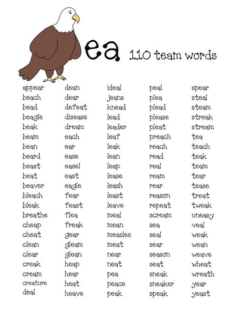 vowels  walking activities phonics rules ea