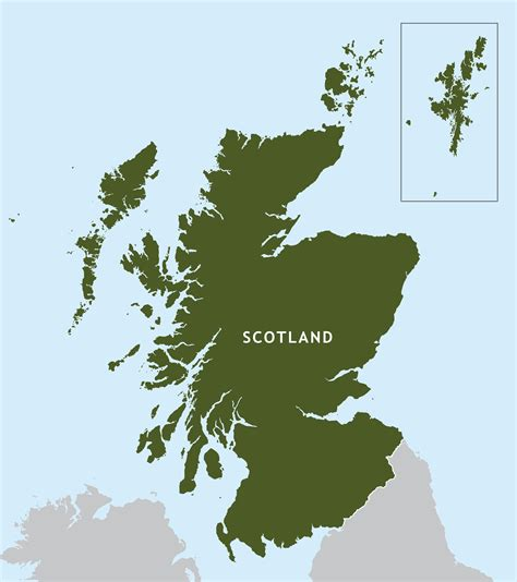 scotland outline map royalty  editable vector map