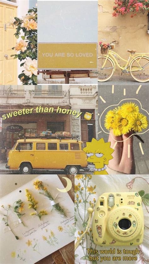 vintage yellow aesthetic wallpapers
