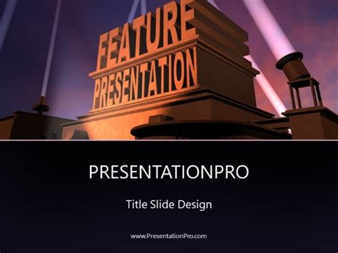 Feature Presentation PowerPoint template background in Art ...