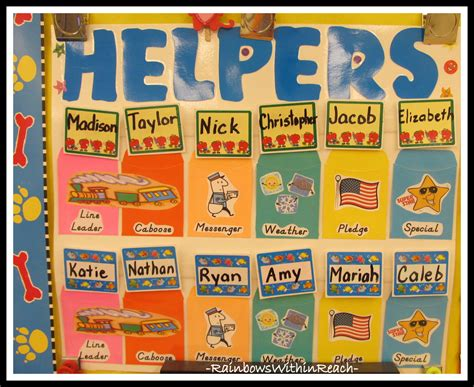Helper Charts + Name Games