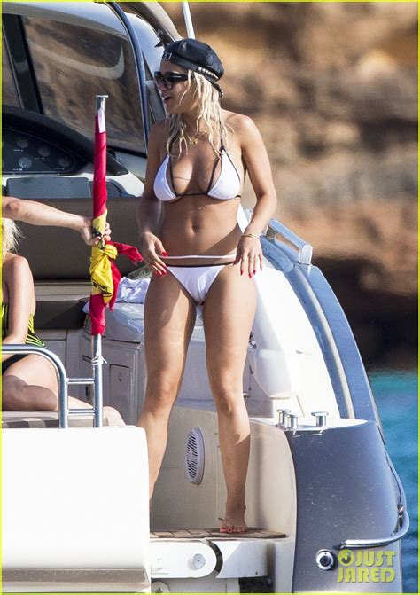 rita ora displays  unbelievable bikini body  ibiza