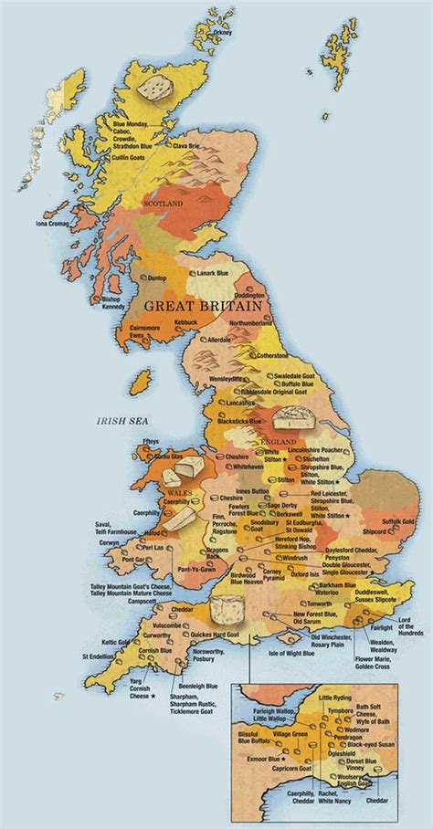 definitive cheese map  great britain