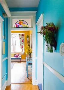 Rideau Bleu Pastel : 1001 id es cr er une d co en bleu et jaune conviviale ~ Teatrodelosmanantiales.com Idées de Décoration