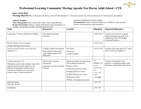 training records meeting template download sle plc training agenda