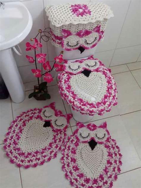 owl bathroom accessories uk jogo de tapetes de banheiro coruja r 169 90 em