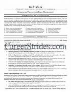 Plant Manager Resume Sample Example Operations Manager Resume Engineering Production Manager Resume WRITING WOLF Operations Manager Resume Template Premium Resume