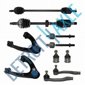 10pc Complete Suspension Kit   2 Front Axle Shafts For