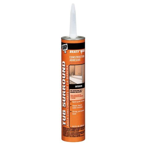 Adhesive For Tub Surround by Dap Beats The Nail 10 3 Oz Tub Surround And Shower Wall