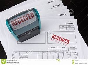 Received invoice with stamp stock image image 8360083 for Business stamps for invoices
