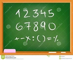 Números de la pizarra ilustración del vector Imagen de clase 43354351