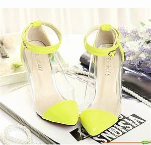 Lime Green Ankle Strap Heels Boot Hto