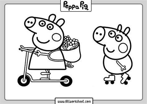 Printable Peppa Pig Coloring Pages for Kids in 2020