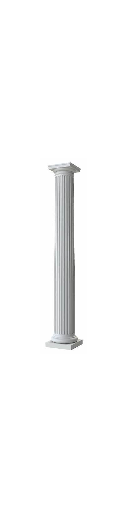 Round Fluted Columns Tapered Fiberglass Exterior Interior