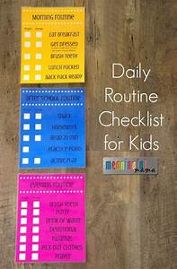 Daily Schedule Chart Daily Routine Checklist For Kids Daily Routines Running
