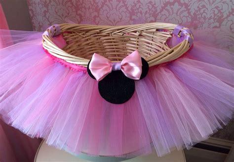 medium minnie mouse themed tutu basket birthday tutu gift
