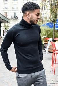 Pull Col Roulé Homme : pull noir tendance col roule homme ilann five ~ Melissatoandfro.com Idées de Décoration