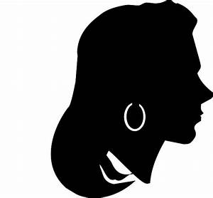 FACE, FEMALE, GIRL, GLYPH, HEAD, PROFILE, SILHOUETTE ...