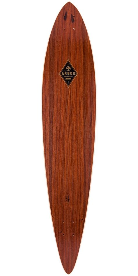 Arbor Longboard Decks Only by Arbor Koa Timeless Pintail Longboard Skateboard Deck 2014