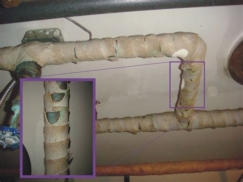 asbestos pipe insulation corded wrap