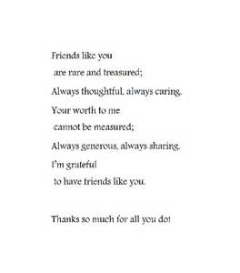 Thank You for Being My Friend Poems