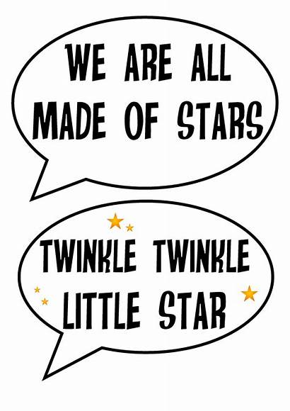 Space Printable Props Booth Party Stars Photobooth