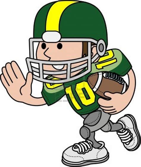 Cartoon Football Player Clipart Clipart Suggest