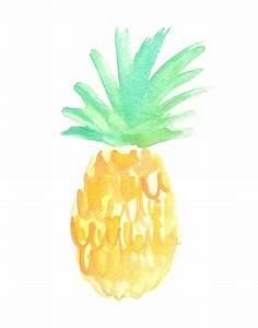 Salty Pineapple Art Print | Watercolors, Mondays and ...