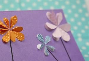 Geburtstagskarten Basteln Ideen : diese geburtstagskarte mit blumen kann man ganz einfach selber machen lerne in dieser anleitung ~ Watch28wear.com Haus und Dekorationen