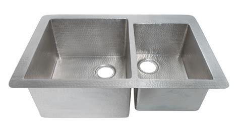 brushed nickel copper undermount kitchen sink uvntcps575