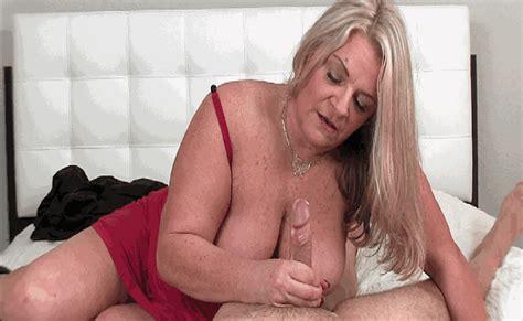 blonde milf milking a big sized dick