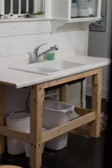 temporary kitchen sink renovating