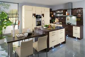 votre cuisine sous les projecteurs blog des cuisines aviva With cuisine marron et blanc