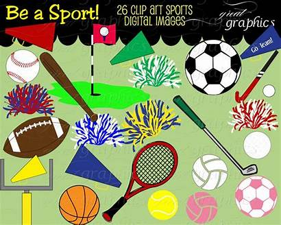 Sports Clip Clipart Digital Basketball Banner Football