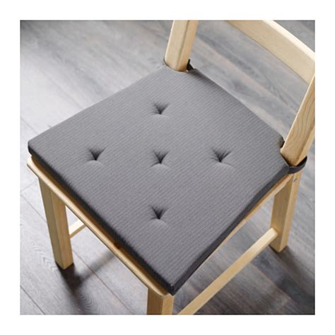 justina chair pad grey 35 42x40x4 0 cm ikea