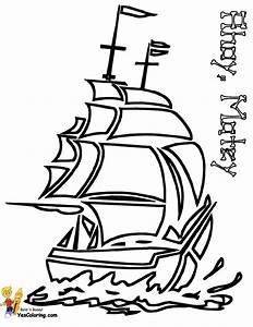 High Seas Pirate Ship Coloring Pages