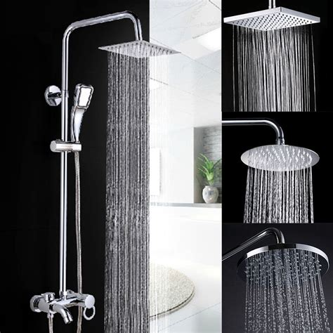 bathroom shower heads high quality large 8 quot chrome bathroom stainless rainfall