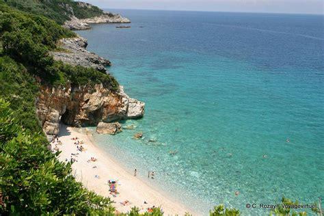 Small Beach Between Rocks Milopotamos Pelion Greece