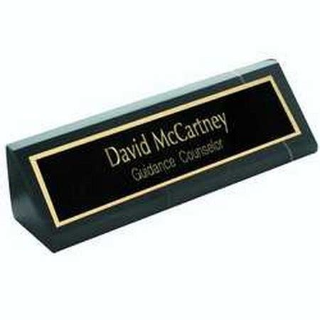 desk name plate designs personalized nameplates on black marble desk wedge