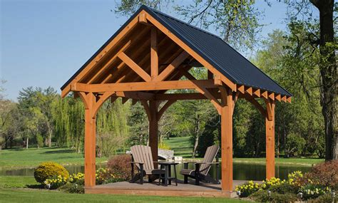 backyard living  weaver barns amish  pavilions