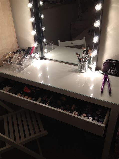 makeup vanity with lights ikea bedroom vanity with lights for sale home delightful
